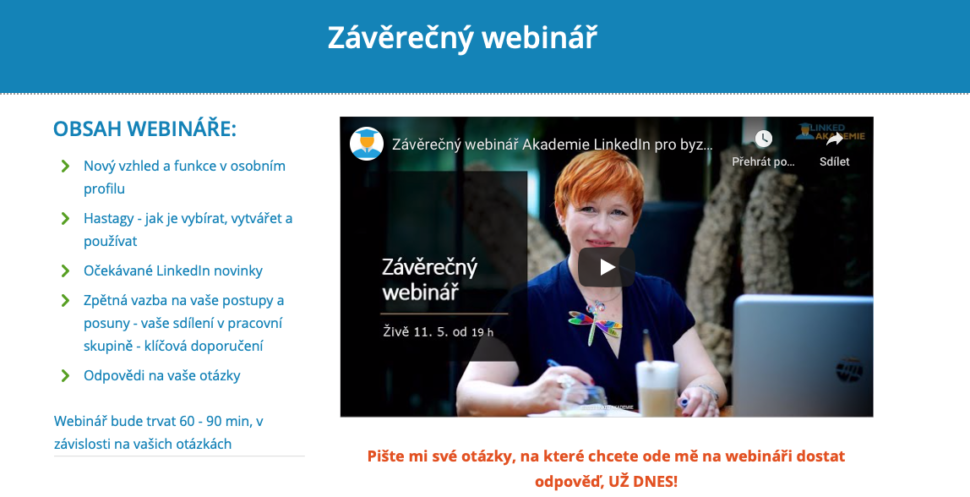Linked Akademie webinar